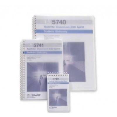 Блокнот для чистых помещений TexWipe® TexWrite® TX5740,  1 упаковка (20 штук)