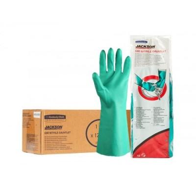 Нитриловые перчатки JACKSON SAFETY* G80 химически стойкие (с манжетой 33 см)