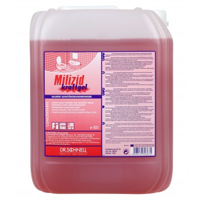 Средство для удаления минеральных и жировых загрязнений MILIZID KRAFTGEL (10 л)