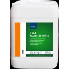 F 261 KLORIITTI-FORTE 10 л (Ф 261 КЛОРИИТТИ-ФОРТЕ) на основе гипохлорита натрия