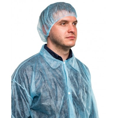 Шапочка-берет PURETECH® HB20 (голубая), 1 упаковка (100 штук)