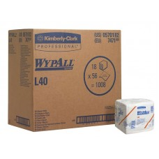 Протирочные салфетки WypAll L40 (7471), 1 коробка (18 пачек по 56 листов)