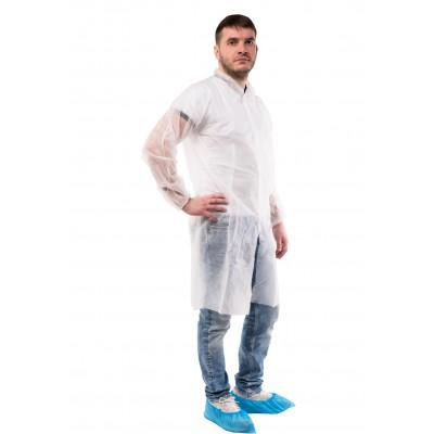 Одноразовый халат на кнопках PURETECH С30