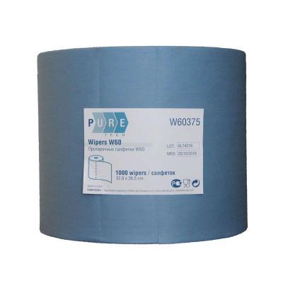 Протирочный материал в рулоне PURETECH W60 1000 листов, синий