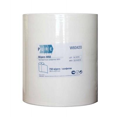 Протирочный материал в рулоне PURETECH W60 750 листов, белый