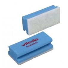 Губка с минимальной жесткостью и белым абразивом (синяя), 1 упаковка (10 штук)