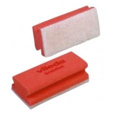 Губка Минимальная жесткость с белым абразивом (красная), 1 упаковка (10 штук)