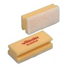 Губка с минимальной жесткостью и белым абразивом (желтая), 1 упаковка (10 штук)