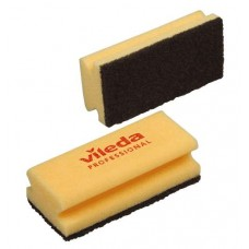 Губка максимальной жесткости c черным абразивом (15х7 см), 1 упаковка (10 штук)