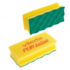 Губка ПурАктив (желтая), 1 упаковка (10 штук)