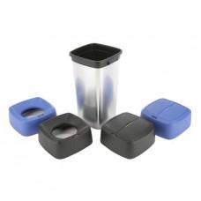 Контейнер для мусора ирис прямоугольный с металлизированным покрытием
