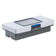 Крышка с отделением для планшета, секцией для хранения, замком, ключом и клипсами цветового кодирования